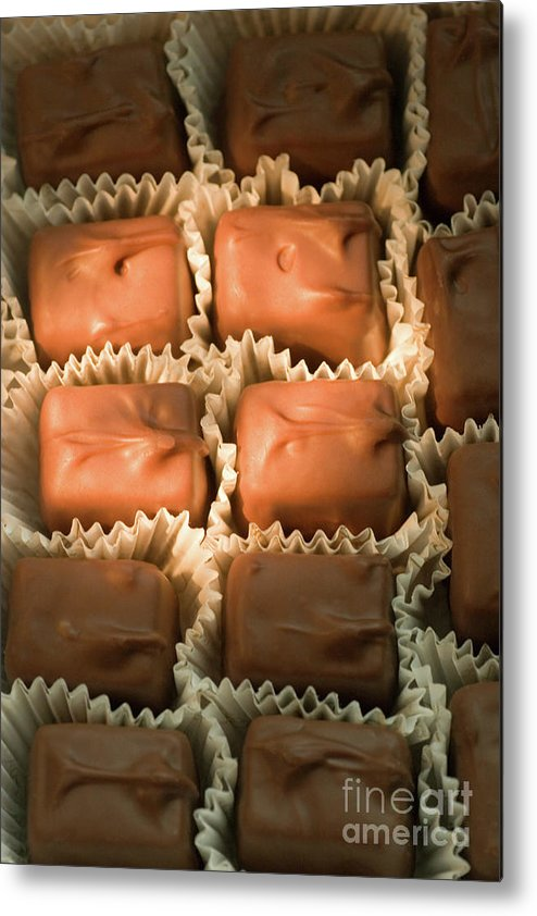 Chocolate Metal Print featuring the photograph Box Of Chocolates by Linda Matlow