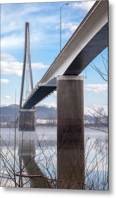 River Metal Print featuring the photograph Bridge Over The Mist by Lee Wellman
