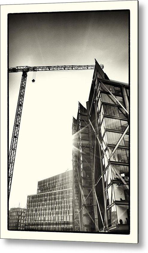 blue Fin Building Metal Print featuring the photograph Building London 1 by Lenny Carter