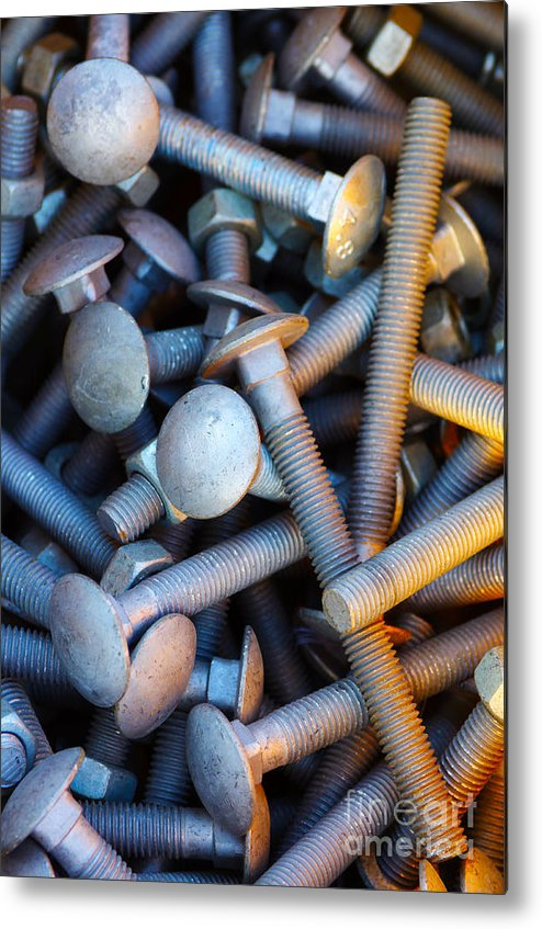 Aluminium Metal Print featuring the photograph Bunch Of Screws by Carlos Caetano