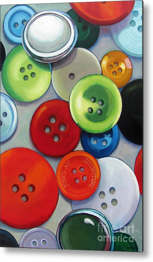 Buttons Metal Print featuring the painting Buttons by Wendy Westlake