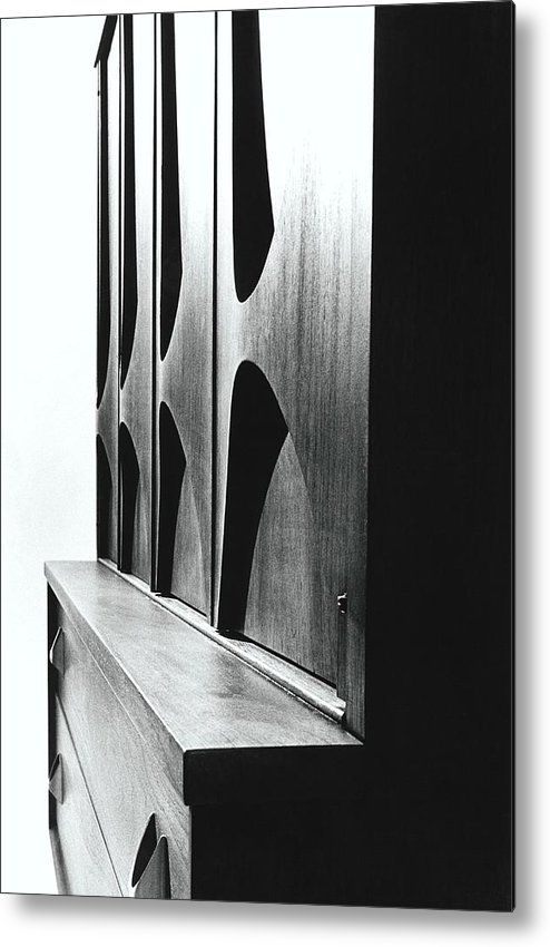 Oscar Niemeyer Metal Print featuring the photograph Cabinet Designed By M F Smith For Broyhill by William Grigsby