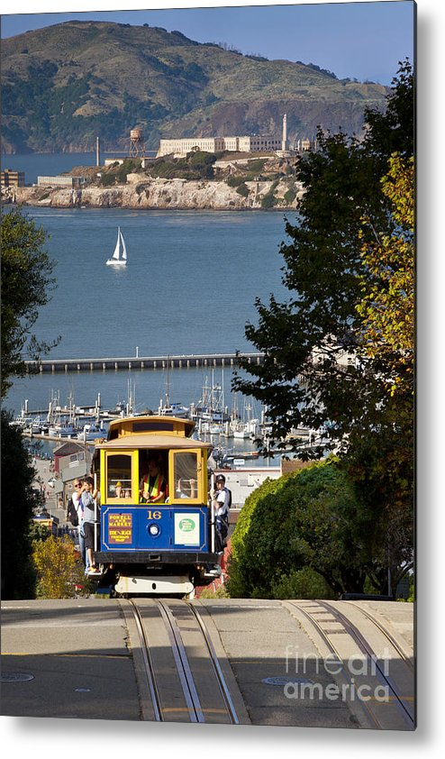 Cable Metal Print featuring the photograph Cable Car In San Francisco by Brian Jannsen