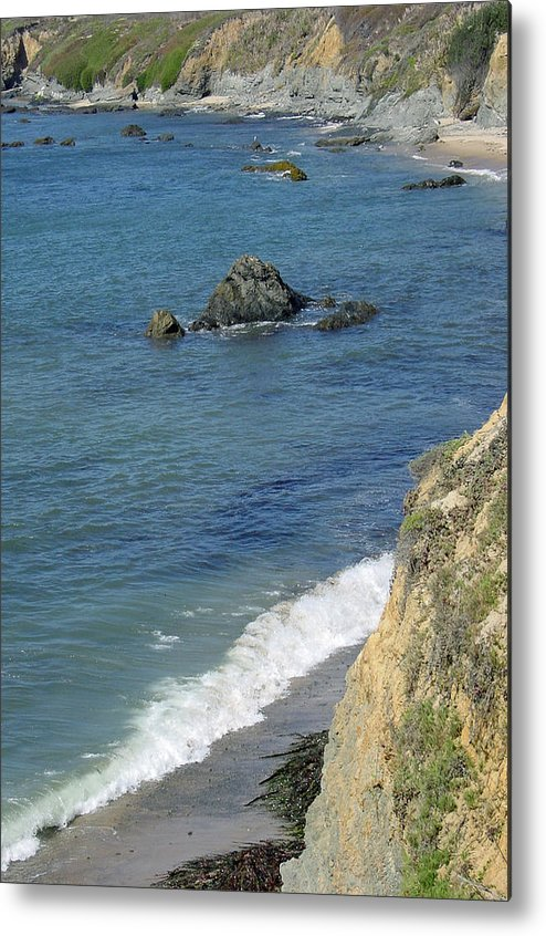 Califormia Metal Print featuring the photograph California Coastline by Suzanne Gaff