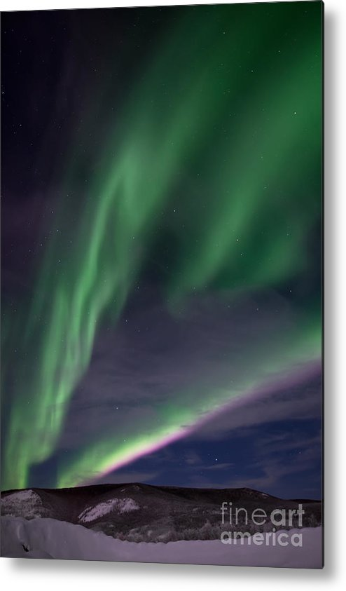 Snowy Metal Print featuring the photograph Celestial by Priska Wettstein