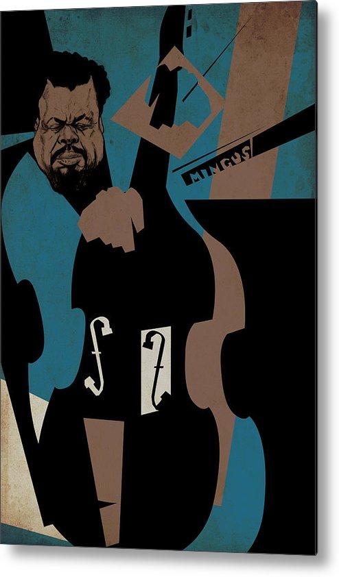 Charles Metal Print featuring the digital art Charles Mingus by Thomas Seltzer