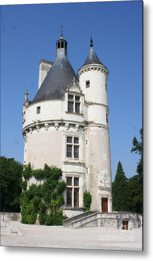 Tower Metal Print featuring the photograph Chateau Chenonceau Tower by Christiane Schulze Art And Photography