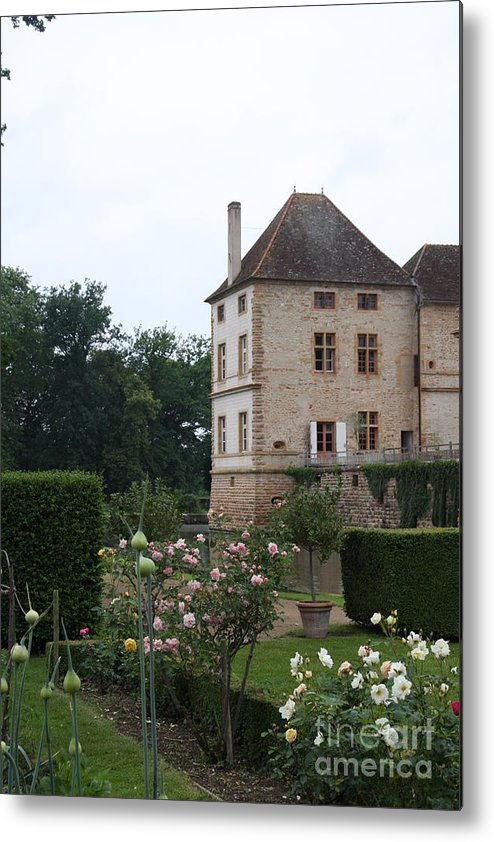 Palace Metal Print featuring the photograph Chateau De Cormatin - Burgundy by Christiane Schulze Art And Photography