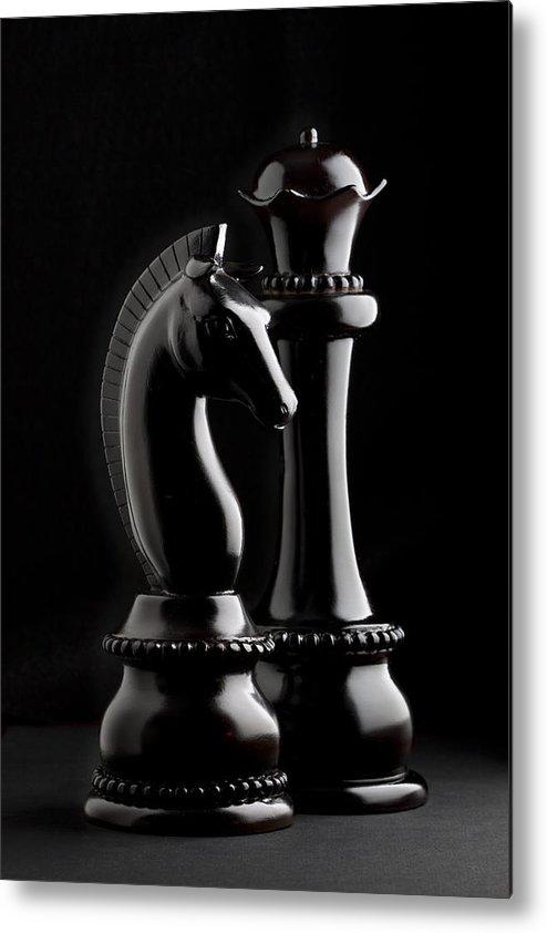 Queen Metal Print featuring the photograph Chess IIi by Tom Mc Nemar