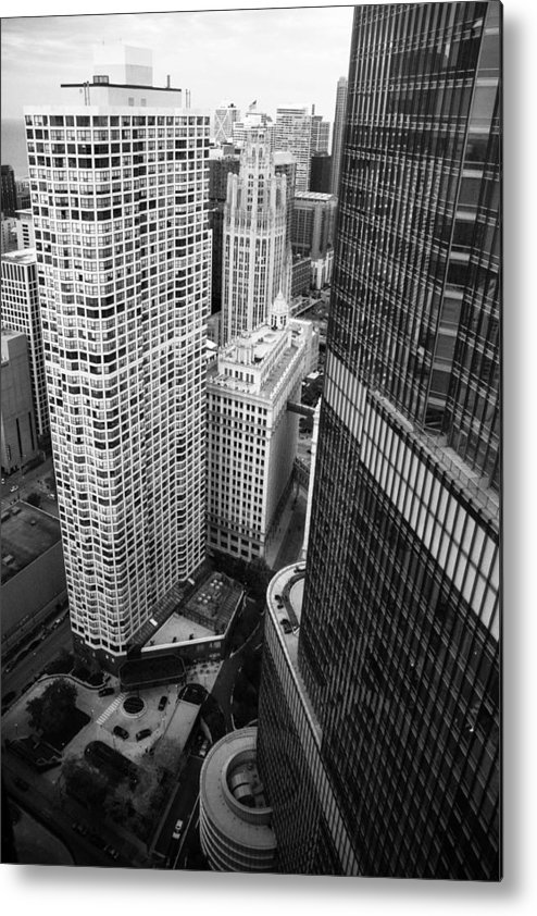 Chicago Photography Metal Print featuring the photograph City Scapes by Polina Goncharova