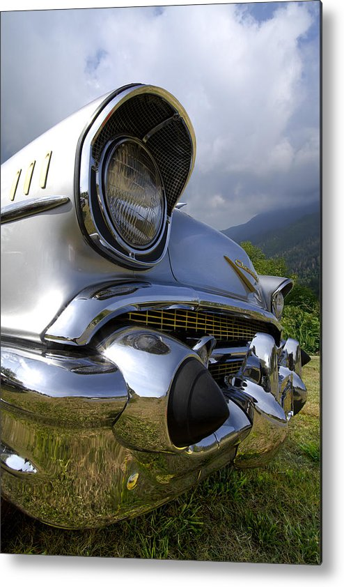57 Metal Print featuring the photograph Classic Chevrolet by Debra and Dave Vanderlaan