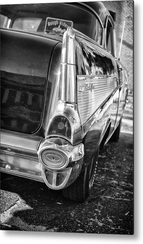 Black And White Metal Print featuring the photograph Classic Steel by Tera Bunney
