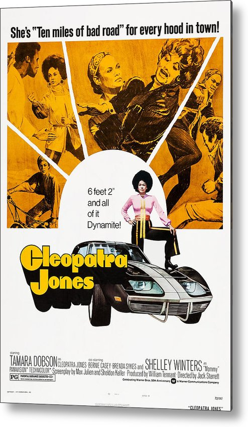 1970s Poster Art Metal Print featuring the photograph Cleopatra Jones, Poster Art, Tamara by Everett