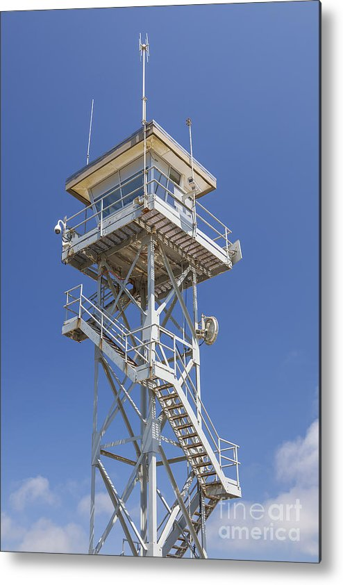 Built Structure Metal Print featuring the photograph Coast Guard Tower by Bryan Mullennix