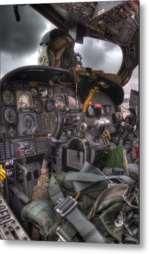 Aircraft Metal Print featuring the photograph Cockpit by TJ OHare