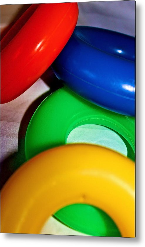 Color Metal Print featuring the photograph Color Rings by Izabela Bienko