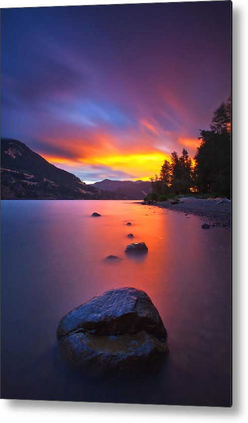 Sunset Metal Print featuring the photograph Columbia Morning Fire by Darren White