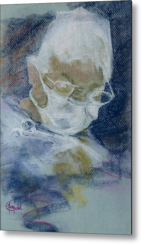 Medical Metal Print featuring the painting Concentration by Janice Gell