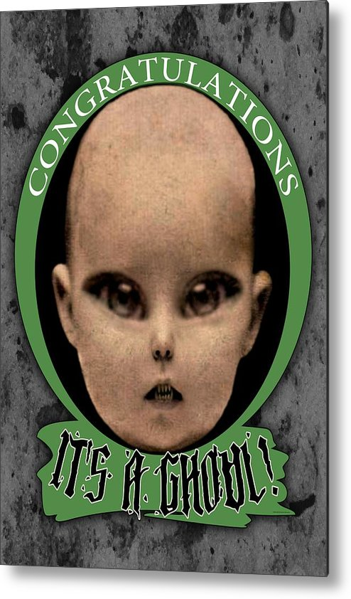 Photograph Metal Print featuring the mixed media Congratulations It's A Ghoul by Kris Milo