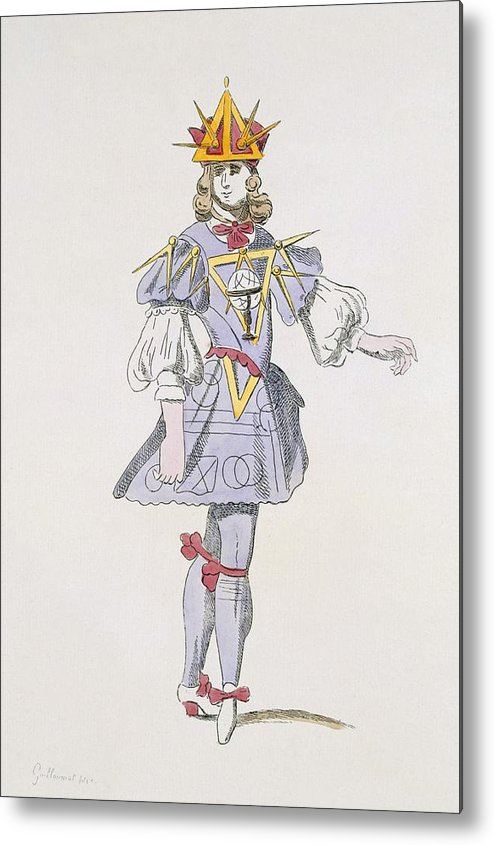 Baroque Metal Print featuring the drawing Costume Design For Geometry In A 17th by French School