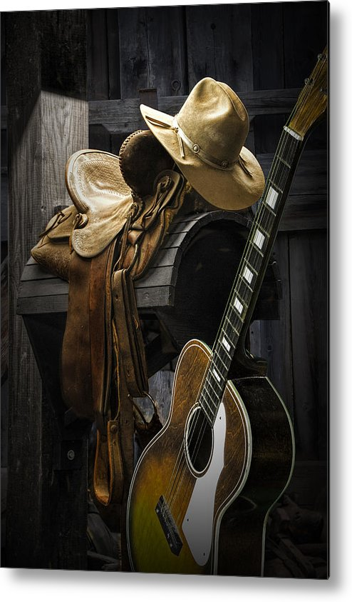 Landscape Metal Print featuring the photograph Country And Western Music by Randall Nyhof
