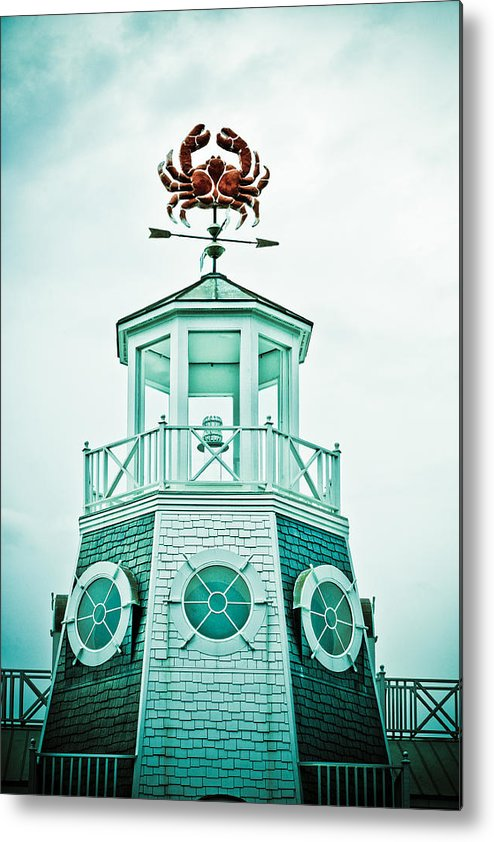 Crab Metal Print featuring the photograph Crabby Weathervane by Marilyn Hunt
