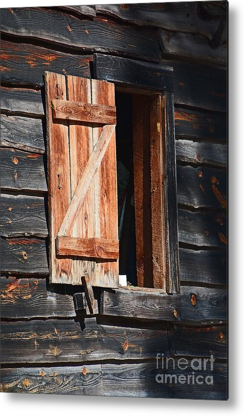 Cracker House Metal Print featuring the photograph Cracker House Window by Cindy Manero