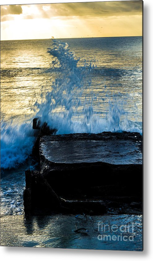 Bvi Metal Print featuring the photograph Crashing Rays And Waves by Rene Triay Photography