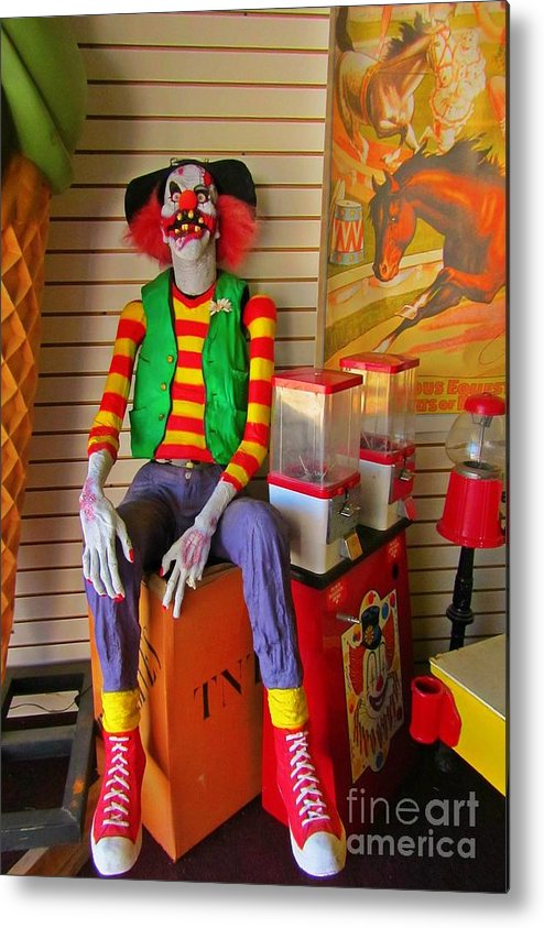 Creepy Clown Metal Print featuring the photograph Creepy Clown by John Malone