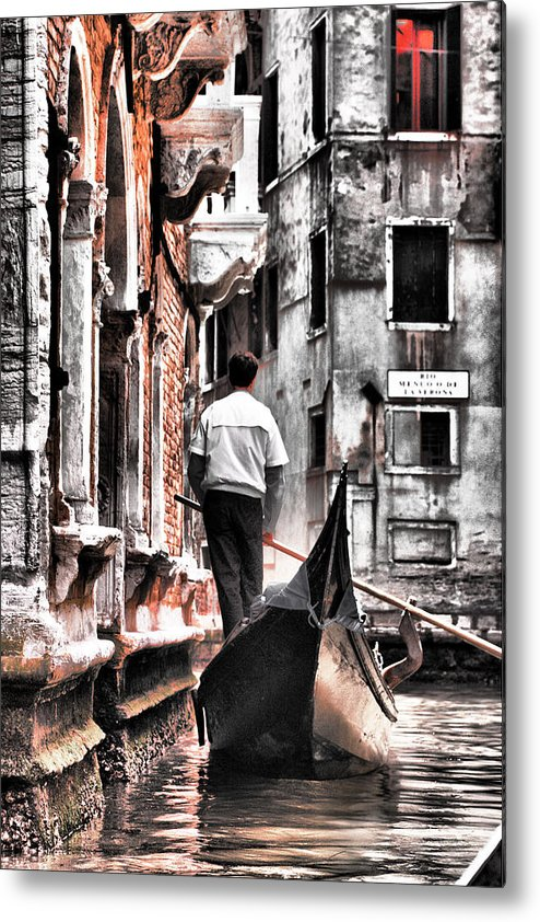 Canal Metal Print featuring the photograph Cruisin The Canals by Greg Sharpe