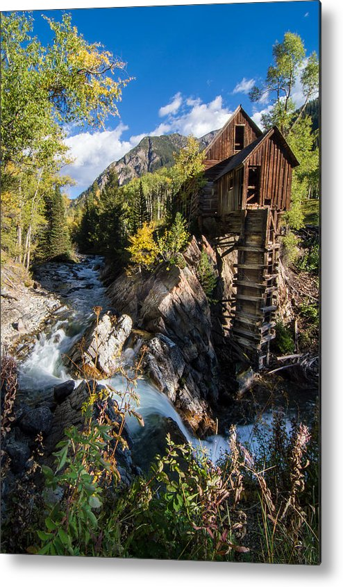 Colorado Metal Print featuring the photograph Crystal Mills Vertical by Michael J Bauer