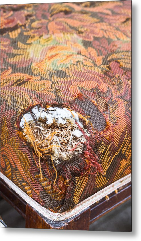 Accidental Damage Metal Print featuring the photograph Damaged Upholstery by Tom Gowanlock