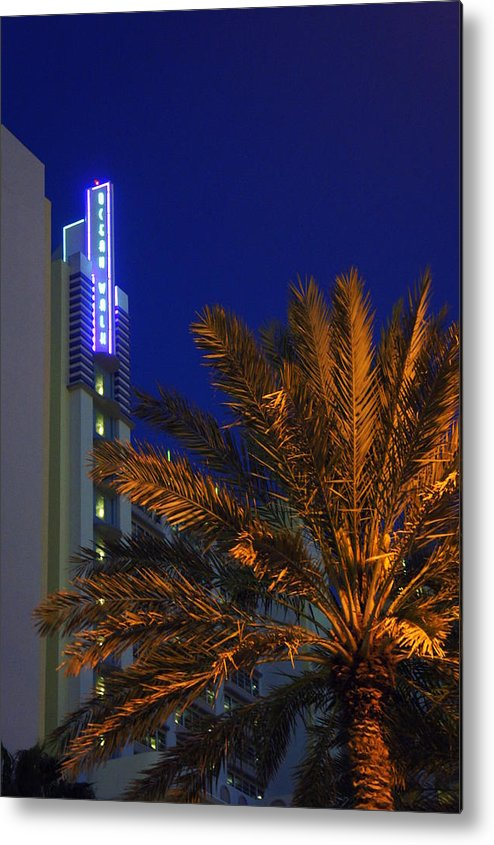 Daytona Beach Metal Print featuring the photograph Daytona Rest Stop by Laurie Perry