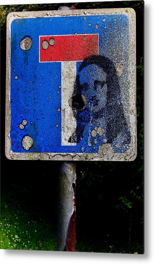 Stencil Metal Print featuring the photograph Dead End Religion by David Howarth