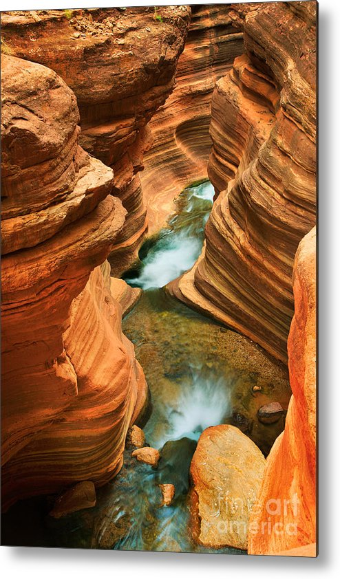 America Metal Print featuring the photograph Deer Creek Slot by Inge Johnsson