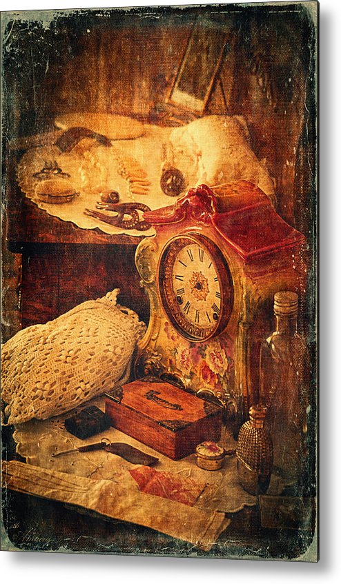 Perfumes Metal Print featuring the photograph Antique Details by Maria Angelica Maira