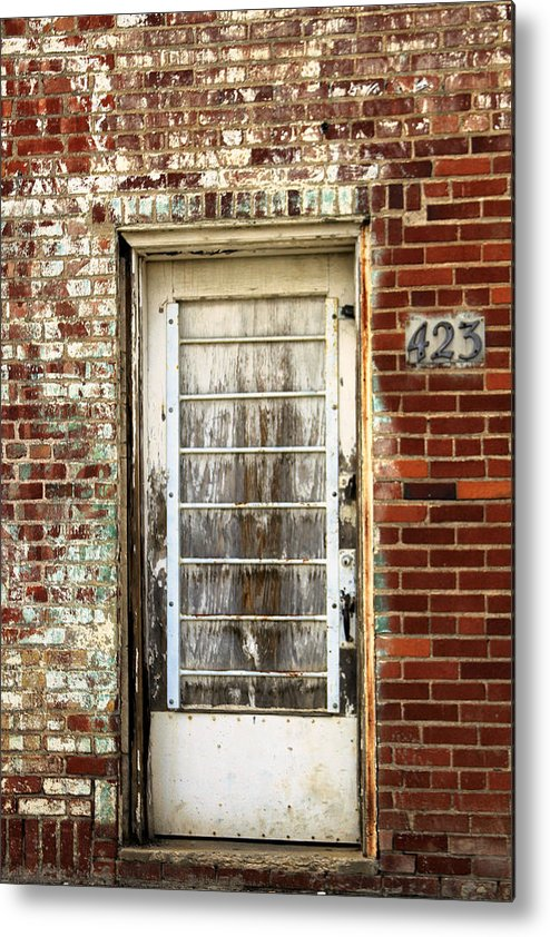 Rustic Metal Print featuring the photograph Door 423 by Tera Bunney