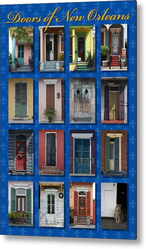 New Orleans Metal Print featuring the photograph Doors Of New Orleans by Heidi Hermes