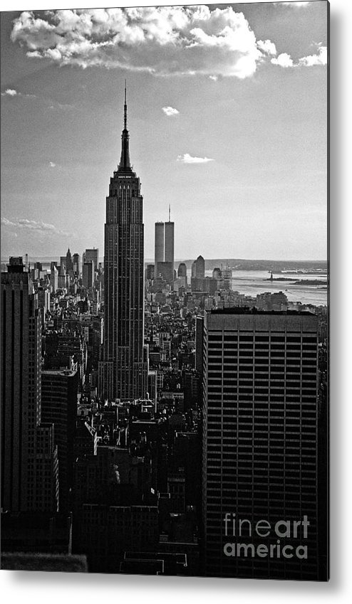 Landscape Metal Print featuring the photograph Downtown Bw by Earl Johnson