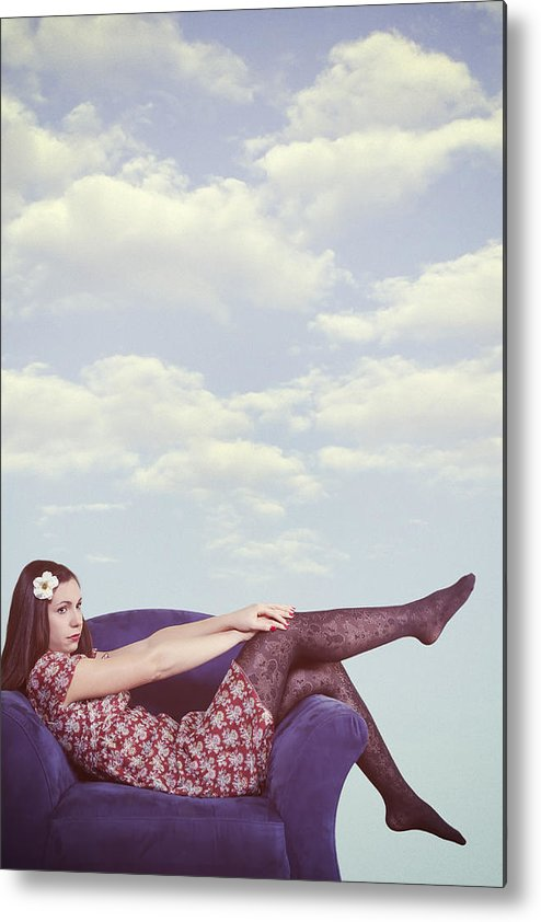 Woman Metal Print featuring the photograph Dreaming To Fly by Joana Kruse
