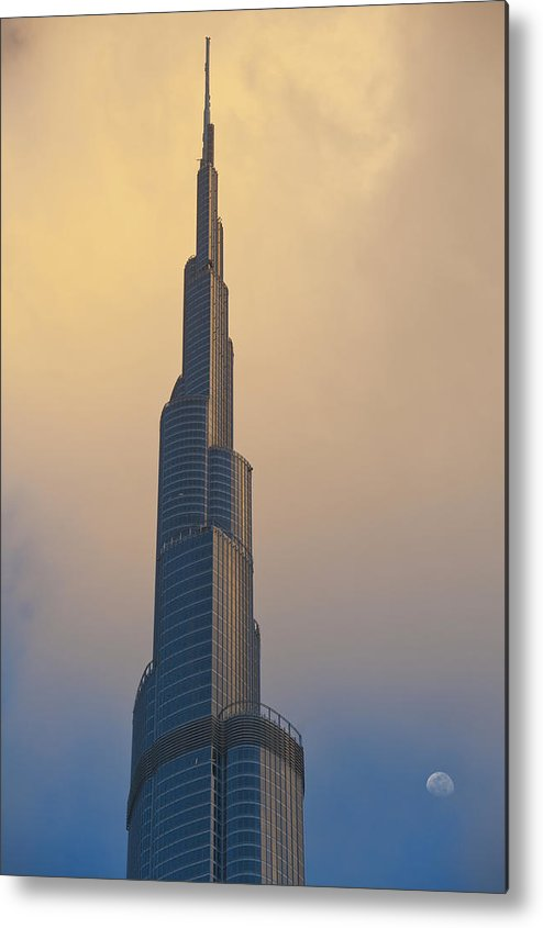 Photography Metal Print featuring the photograph Dubai, Uaedetail Of The Burj Khalifa by Ian Cumming