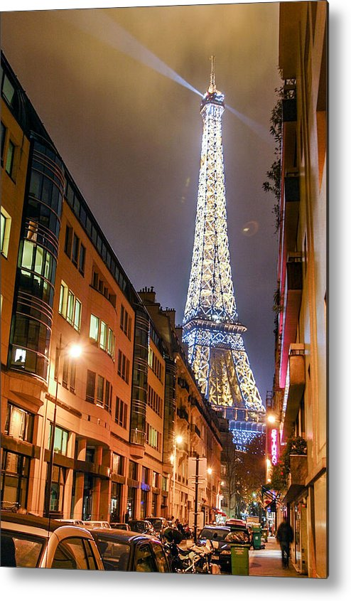 Eiffel Tower Metal Print featuring the photograph Eiffel Tower Three by Josh Whalen