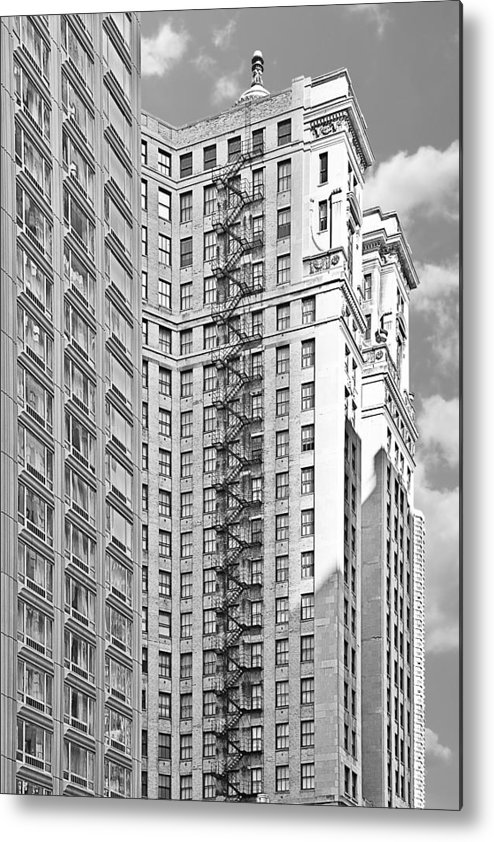 Chicago Metal Print featuring the photograph Emergency Exit Chicago Il by Christine Till