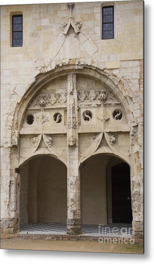 Cloister Metal Print featuring the photograph Entrance Fontevraud Abbey- France by Christiane Schulze Art And Photography