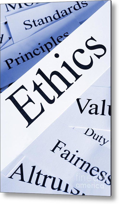Concept Metal Print featuring the photograph Ethics Concept by Colin and Linda McKie