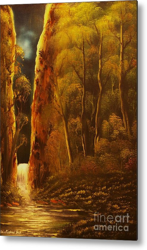 Moonlight Metal Print featuring the painting Evening Calm-original Sold-buy Giclee Print Nr 30 Of Limited Edition Of 40 Prints by Eddie Michael Beck