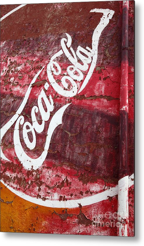 America Metal Print featuring the photograph Faded Coca Cola Mural 2 by James Brunker