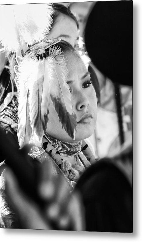 Tribal Metal Print featuring the photograph Feathers Dance by Tera Bunney