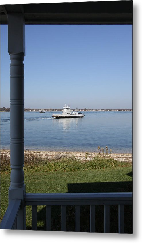 Shelter Island Ferry Metal Print featuring the photograph Ferry Shelter Island New York by Bob Savage