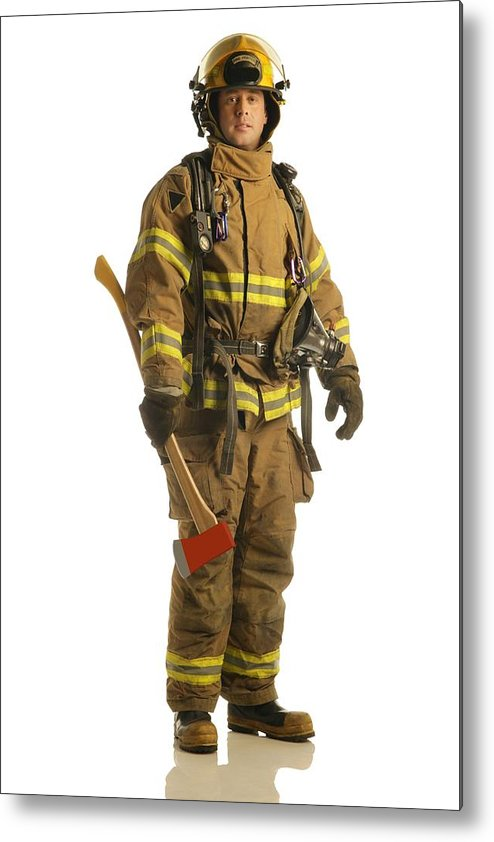 Job Metal Print featuring the photograph Firefighter by Don Hammond